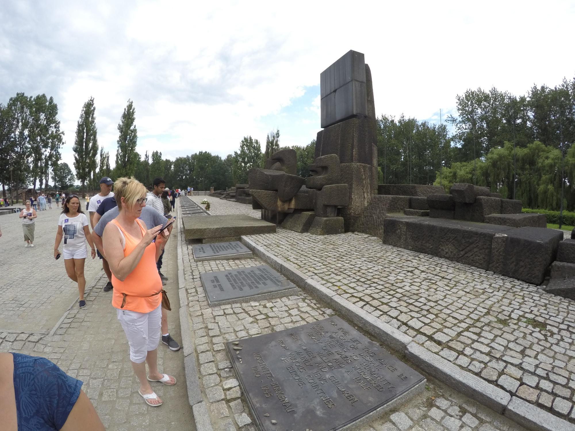 Memorial in Birkenau